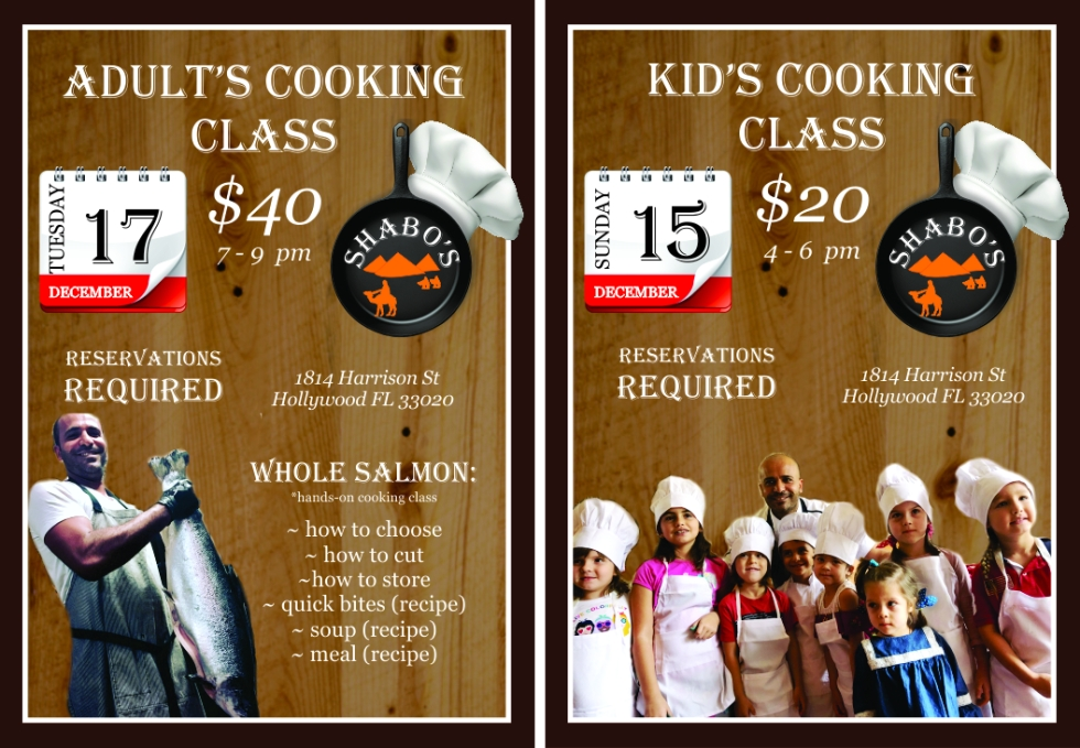 cooking classes ad